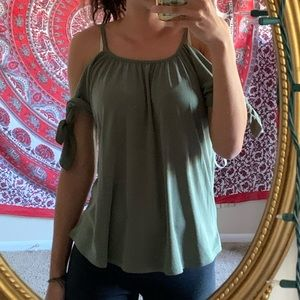 cute olive green blouse from Francesscas